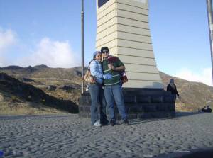 MI ANGEL BELLO Y YO EN PICO EL AGUILA MERIDA