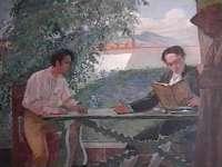 Bolívar y Bello Estudiando - Tito Salas
