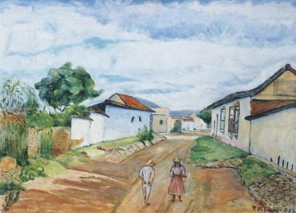 Curarigua 1957 | óleo sobre tela | 58 x 78 cms.