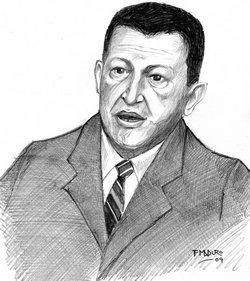 <b>Hugo Rafael</b> Chávez Frías Ilustración realizada por Francisco Maduro. - hugochavez