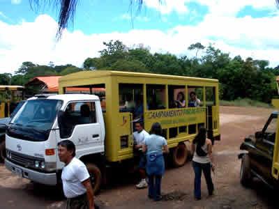 Transporte, Campamento Parakaupa