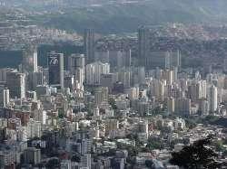 Vista de Caracas (San Bernadrino y al fondo Parque Central)