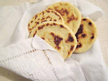 Ingredientes de arepas de harina de trigo