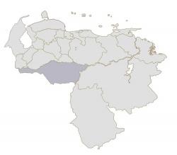Ubicación geográfica de Apure