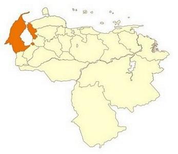 Ubicación geográfica de Zulia
