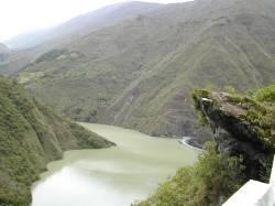 Río Santo Domingo, en la represa de mismo nombre