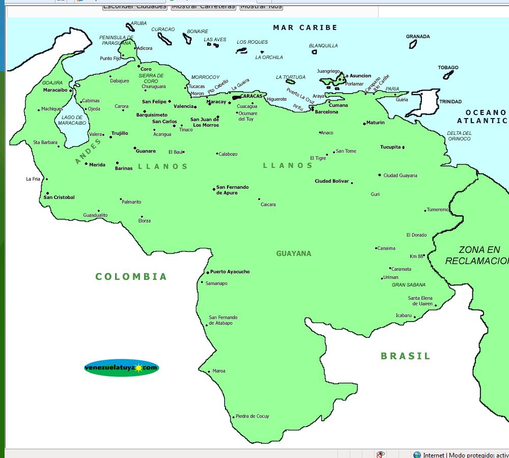Mapa de Venezuela - Venezuela Tuya