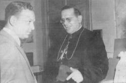 Fabricio Ojeda y Monseñor Rafael Arias Blanco