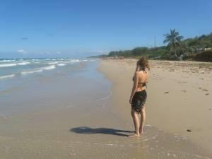 Contemplando la playa